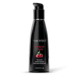 Wicked Aqua Cherry - Cherry Flavoured Water Based Lubricant - 120 ml Bottle