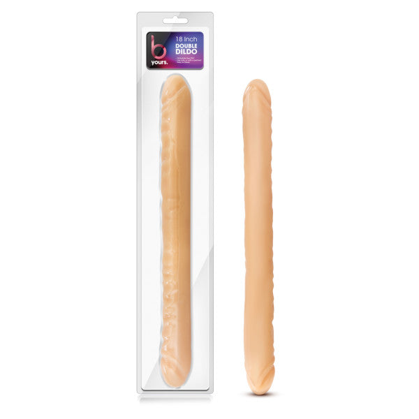 B Yours - 18'' Double Dildo - Flesh 45.7 cm (18'') Double Dong