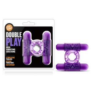 Play With Me - Double Play - Purple Dual Vibrating Cock Ring