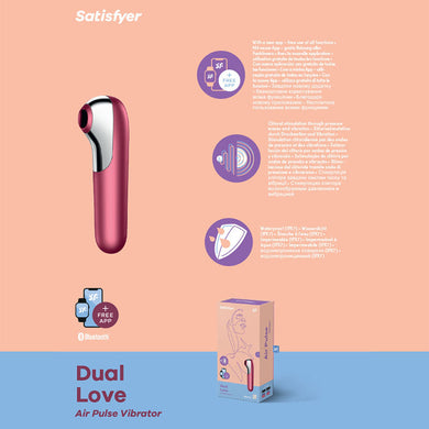 Satisfyer Dual Love RED - App Controlled Touch-Free USB-Rechargeable
