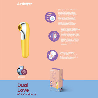 Satisfyer Dual Love YELLOW - App Controlled Touch-Free USB-Rechargeable