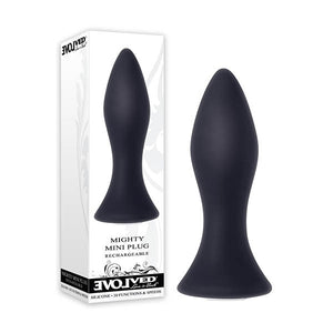 Mighty Mini Plug - Black 8.9 cm (3.5'') USB Rechargeable Butt Plug