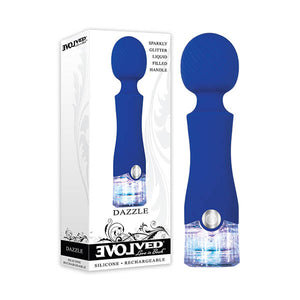 Evolved Dazzle - Blue 15 cm USB Rechargeable Massage Wand