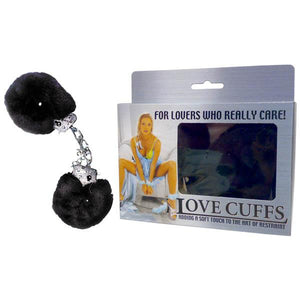 Love Cuffs - Black Fluffy Hand Cuffs