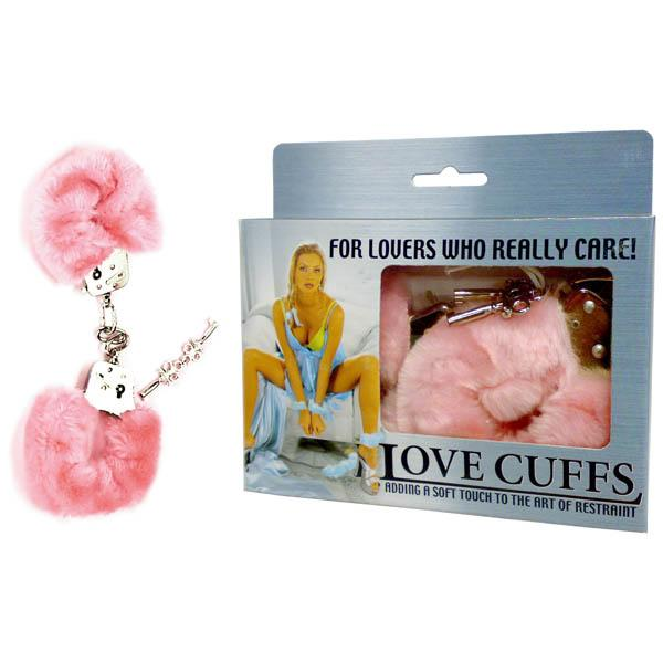 Love Cuffs - Pink Fluffy Hand Cuffs