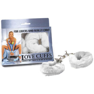 Love Cuffs - White Fluffy Hand Cuffs