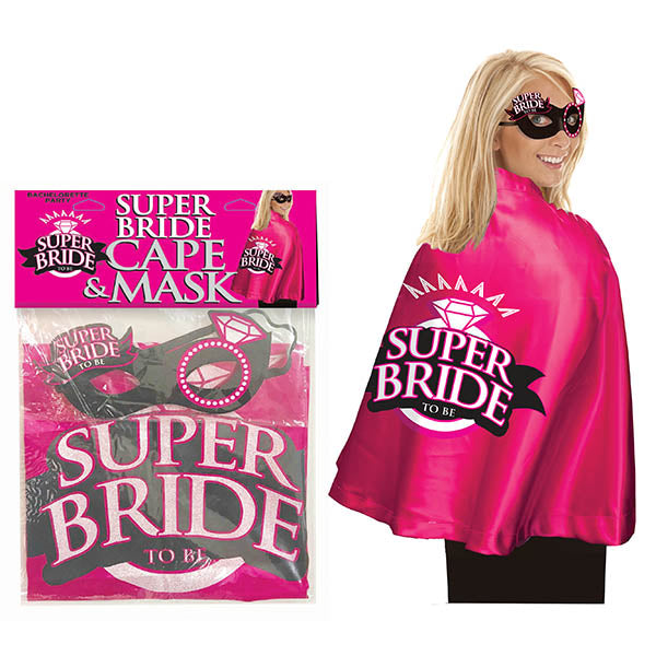 Super Bride Cape & Mask - Hens Party Costume