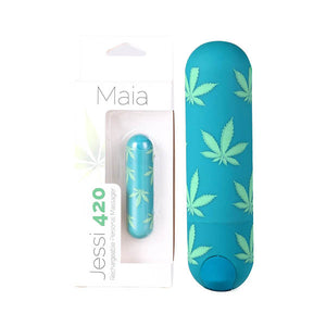 Maia Jessi 420 - Emerald Green 7.6 cm USB Rechargeable Bullet