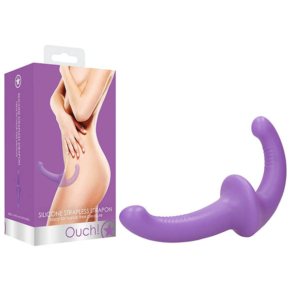 Ouch! Silicone Strapless Strapon - Purple Strapless Strap-On