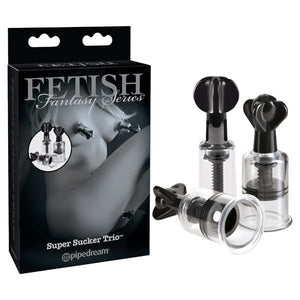 Fetish Fantasy Series Limited Edition Super Suckers Trio - Nipple & Clit Pumps - Set of 3