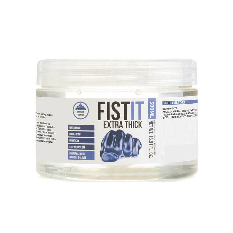 Pharmquests Fist-It Extra Thick - Thick Water Based Lubricant - 500 ml Tub