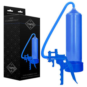 Pumped Elite Beginner Pump - Blue Penis Pump with Trigger