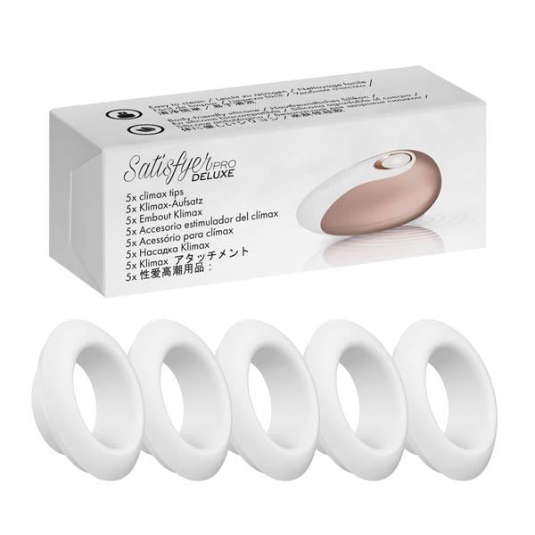 Satisfyer Pro Deluxe Climax Heads - 5 Replacement Silicone Heads for Satisfyer Pro Deluxe