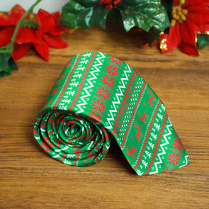 Ugly Christmas Sweater Novelty Necktie