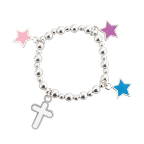 Stretch Bead Cross Bracelet