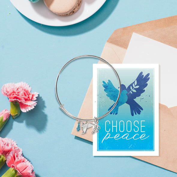 Choose Peace Bangle Bracelet