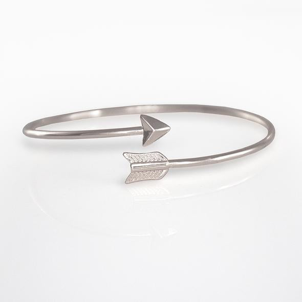 Right Direction Bangle Bracelet (Rose Gold or Silver)