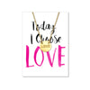 Love Disk Necklace