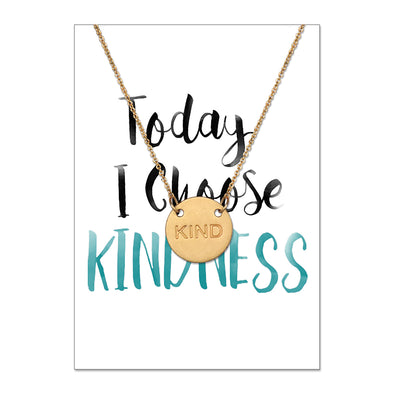 Kind Disk Necklace