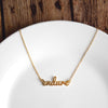 Endure Script Necklace