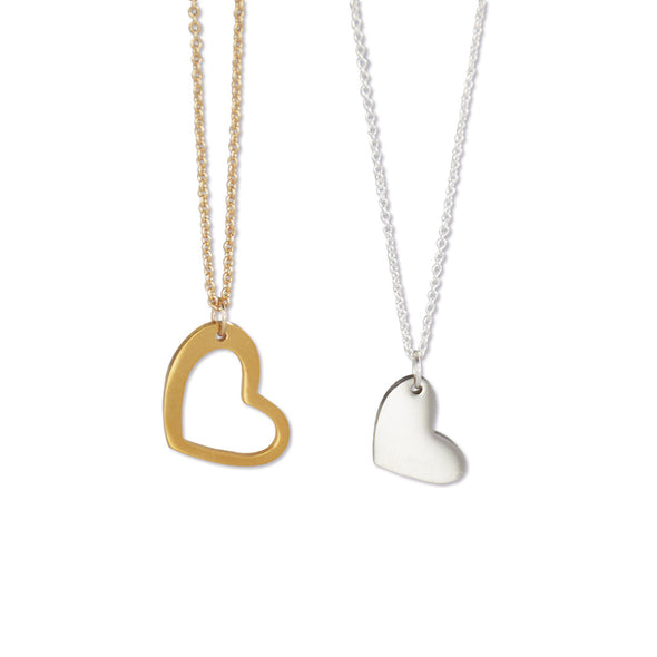 Mother Daughter Heart Necklace