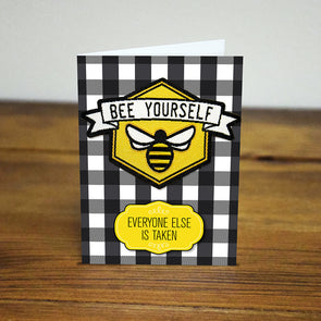 Bee Yourself Iron-on Patch