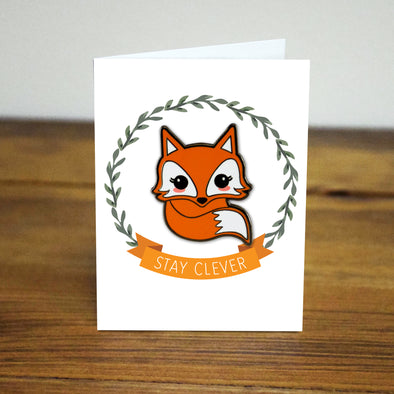 clever Fox Enamel Pin