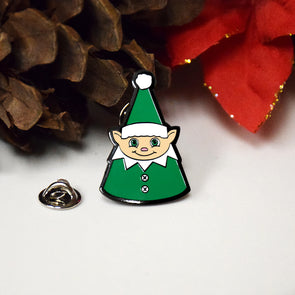 Christmas Elf Enamel Pin