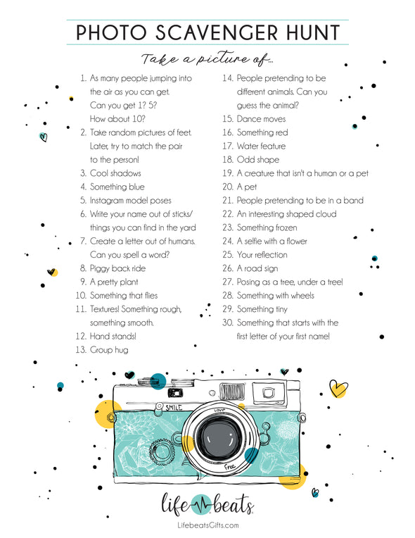 Scavenger Hunt Activity Printable