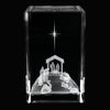 Nativity Scene Crystal Cube