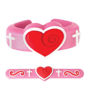 Adjustable PVC Heart Ring