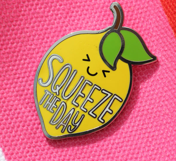 Squeeze The Day Lemon Pin
