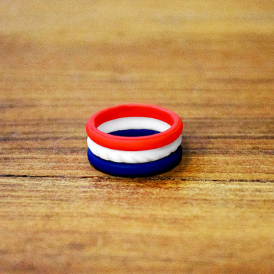 Red, White, and Blue Stackable Ring