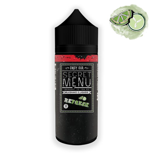 Secret Menu E-liquids RefreshCucumber lime 0MG 100ML high nicotine vape juice unicorn bottle