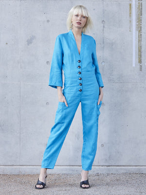 ginger-frank - Echo Linen Jumpsuit - Pfeiffer