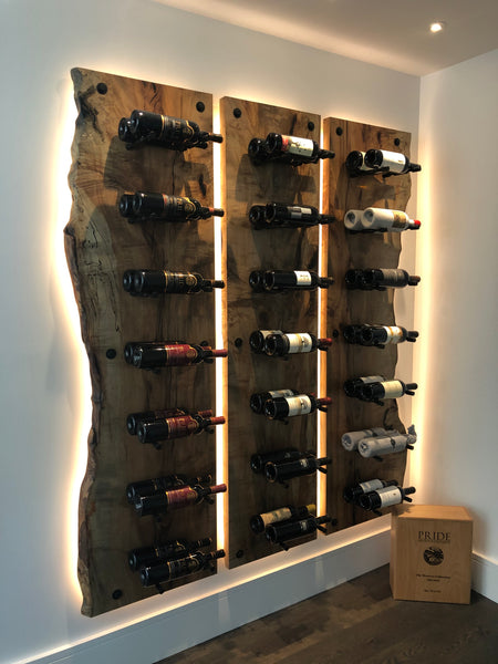 Spalted Maple Wine Cellar Wall