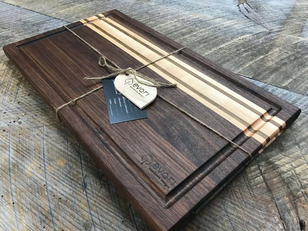 Cutting Boards  - Black Walnut, Maple & Bolivian Coffeewood (3 Sizes Available)