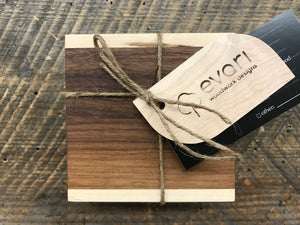 Coasters  - Black Walnut & Maple (Set of 4)