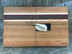 Cutting Board  - Cherry, Black Walnut, Maple & Padauk (Large)