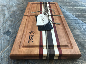 Cutting Board  - Cherry, Black Walnut, Maple & Padauk (Medium)