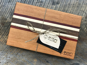 Cutting Board  - Cherry, Black Walnut, Maple & Padauk (Small)