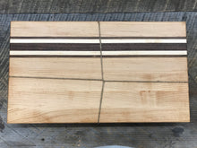 Load image into Gallery viewer, Cutting Board  - Maple, Black Walnut & Bolivian Coffeewood (Large)