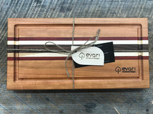 Load image into Gallery viewer, Cutting Board  - Cherry, Black Walnut, Maple & Padauk (Medium)