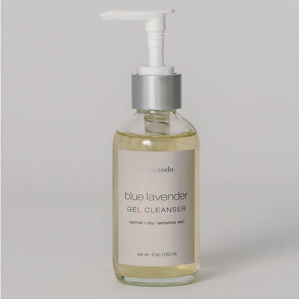 Blue Lavender Gel Cleanser - | Sherwood Green Life best green tea skin care products, eco friendly skincare products, all natural non toxic skincare