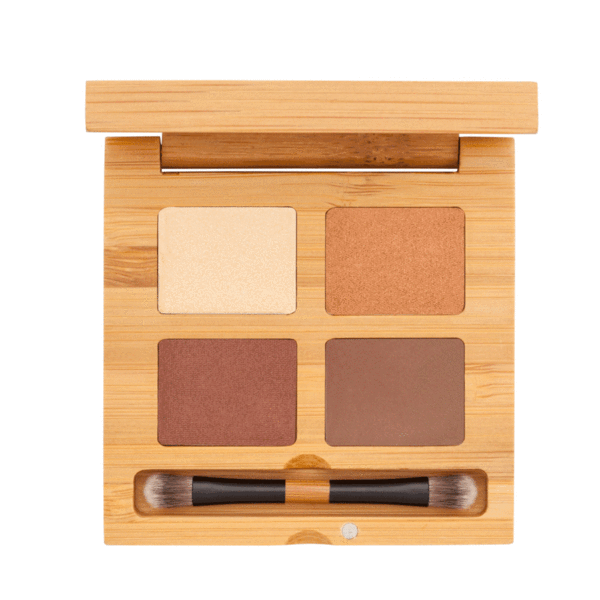 Eyeshadow Quattro - Noisette | Sherwood Green Life all natural organic makeup products, natural non toxic makeup kits, affordable organic beauty products