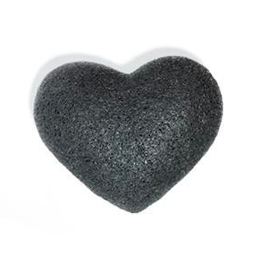 Bamboo Charcoal Heart Cleansing Sponge - | Sherwood Green Life natural children's bath products, no silicone no paraben no sulfate shampoo, natural and non toxic personal care products