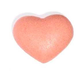 Rose Clay Heart Cleansing Sponge - | Sherwood Green Life natural children's bath products, no silicone no paraben no sulfate shampoo, natural and non toxic personal care products