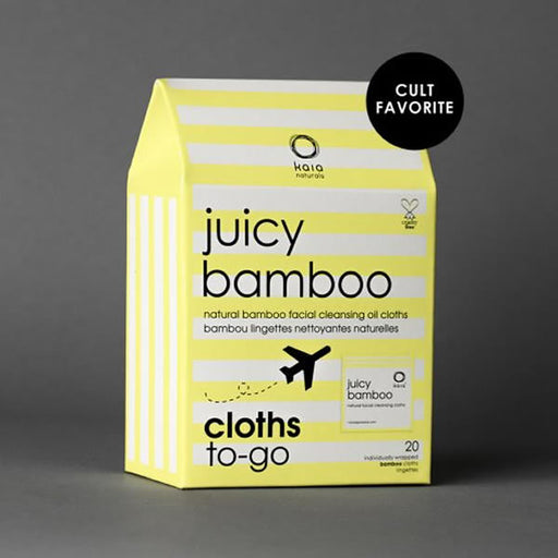 Juicy Bamboo Cleansing Cloths To Go - | Sherwood Green Life natural children's bath products, no silicone no paraben no sulfate shampoo, natural and non toxic personal care products