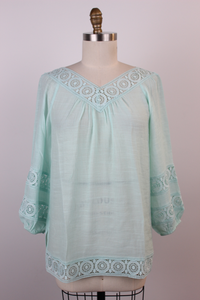 Circle Crochet Trim Tunic