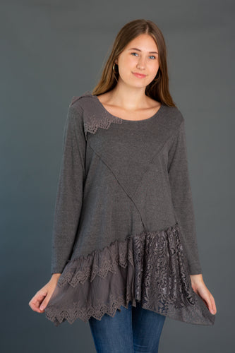 Mixed Media Knit Tunic